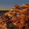 Sunset  on the Rocks at Lake Meredith