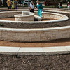 Newly planted raised beds of Meridth Gardens