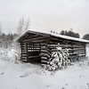 Barn in Seitseminen winter