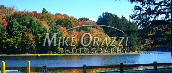 10/10/2014 Mike Orazzi | Staff<br /> Fall color along the Plymouth Reservoir on Friday.