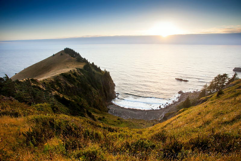 Cascade Head Cove at Sunset
