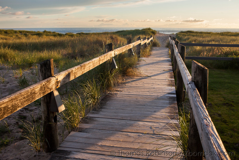 The boardwalk at Breakers Point give one a sense of arrival to the great sands of Cannon Beach