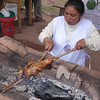 Sacred Valley - Preparing guinea pigs (cuy - pronounced quee)