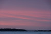 Sky over south end of Butler Island across the Moose River from Moosonee before sunrise.