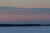 Looking up the Moose River from Moosonee around sunrise.
