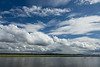 Clouds over the Moose River at Moosonee.