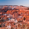 Hoodoos formed by differential erosion over time