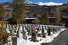 Cemetery lookin East in Lenk, Switzerland