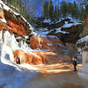 Landscape and a Portrait       Apostle Islands National Lakeshore Ice Caves March 2014