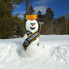 """Green Bay Packer Cheesehead Snowman"""