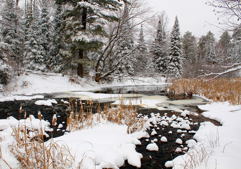 """The Beauty of Winter ""   Manitowish River Boulder Junction Wisconsin"
