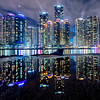 HDR of Marine City in Busan,  South Korea