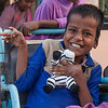 The wheelchair-bound boy with cerebral palsy living next to the Godhuli.