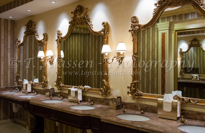 The Venetian Hotel, Casino and Resort washroom in Las Vegas, Nevada, USA.