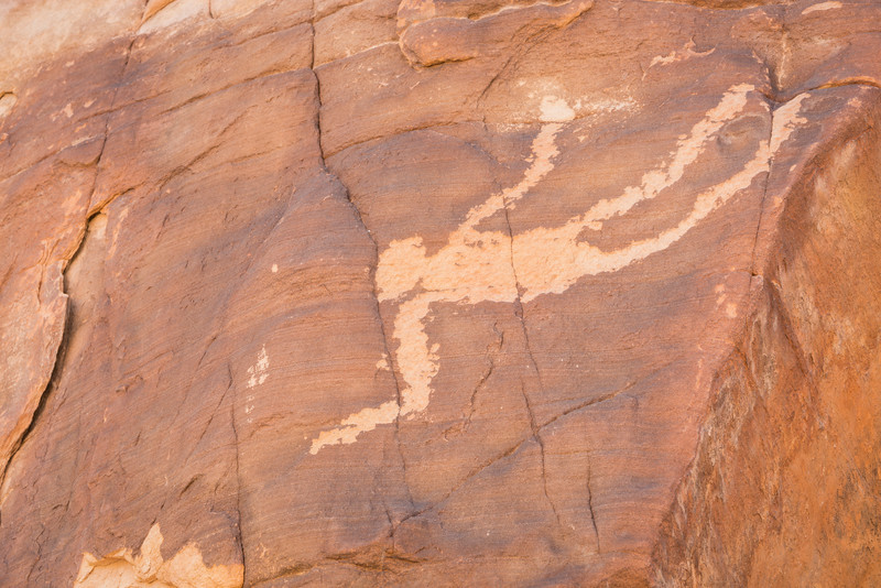 Falling Man, the petroglyph that gives the  Falling Man area its name. Taken in Gold Butte BLM, Nevada, USA.