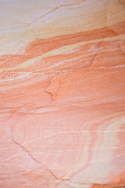 Striped patterns in sandstone. Taken in the Gold Butte area of Nevada, USA.