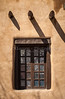 Adobe architecture and doorways in Santa Fe, New Mexico, USA.