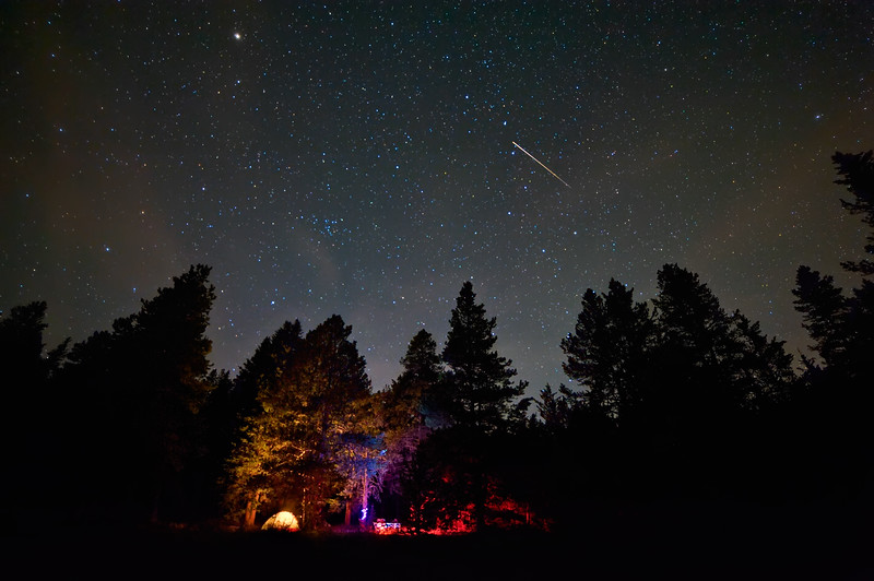 Meteoritic Camping Under the Big Dipper