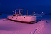 Eleanor B in Frozen Bayfield Harbor, Bayfield, Wisconsin