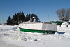 Jackie II on Frozen Lake Superior, Bayfield County, Wisconsin