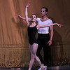 "Ana Sophia Scheller and Jared Angle, The Four Temperaments, October 4, 2013<br /> <br /> When going through my tickets for the New York City Ballet fall season a few weeks ago, I was at first disappointed to see that two of the performances were of the same program, Balanchine in Black & White. However, after seeing the performance last Saturday (see my review from September 29) filled with Balanchine's complexity and nuance, I valued the opportunity to see the program-consisting of The Four Temperaments, Episodes, Duo Concertant, and Symphony in Three Movements, again Friday night with a different cast.<br /> <br /> In The Four Temperaments, I particularly enjoyed Gonzalo Garcia in the Melancholic variation. His dancing flowed with the beautiful Paul Hindemith music as he displayed a substantial dramatic flair portraying a lost and anguished soul. His exit with an exaggerated arched back walking backwards was a dramatic conclusion.<br /> <br /> I also liked Ana Sophia Scheller in the Sanguinic variation with Jared Angle. She had a nice split jete section followed by turns that were well executed. Teresa Reichlen performed the Choleric variation, which was a bit more subdued relative to the frenetic energy provided by Ashley Bouder last Saturday. In one section that I enjoyed, Reichlen danced with four men. After the men had had enough of dancing with the choleric representation, they left the stage to be replaced by four women. The four women formed a square surrounding Reichlen. The four danced a short variation as Reichlen was frozen. The four dancers then paused as Reichlen danced a short variation in the middle of the square. They then danced in unison.<br /> <br /> In Episodes, Savannah Lowery and Amar Ramasar danced the ""spotlight"" variation, Five Pieces, Opus 10 by Anton von Webern. They entered on opposite sides of a diagonal lit in spotlights as he was in all black while she was in an all white leotard. The pas de deux was dramatic and tense throughout, with a sense of conflict between the two. I also liked Rebecca Krohn in the more melodic section set to Bach's Musical Offering.<br /> <br /> Sterling Hyltin and Robert Fairchild were on the mark in Duo Concertant, a happy, upbeat pas de deux in which the dancers interact with violist Arturo Delmoni and pianist Cameron Grant on stage. The piece has a sense of humor; in one section when he offered his hand to her, she shaked her head ""No"" and laughed at him. The footwork here was very fast and they were able to keep up with the rapid tempo. Fairchild had a rapid single tour section in which he threw singles in rapid-fire succession; she had a quick piqué turn section. As I noted in my previous review, the piece ends in near darkness as she walks away, then returns and their hands embrace, lit dramatically by a single spotlight.<br /> <br /> Tiler Peck, deviating from the theme of the evening in a pink leotard, was particularly noteworthy in Symphony in Three Movements with rapid piqué turns and energetic leaps; she tired me out watching her. She was partnered well by soloist Taylor Stanley."