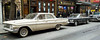 Vintage cars for movie shoot<br /> MacDougal Street New York City<br /> April 2012