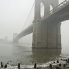 Brooklyn Bridge in fog II