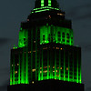 Empire State Building in green