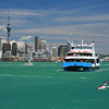 Devonport ferry with kayaker in Auckland