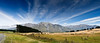 High country pastures on the way to lake Coleridge<br /> South Island<br /> New Zealand