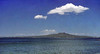 Rangitoto from Takapuna beach<br /> Waitemata Habour<br /> Auckland<br /> New Zealand - Feb 1980