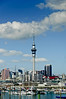 Sky Tower from Westhaven Marina<br /> Auckland<br /> New Zealand