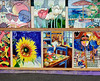 Display of James Art Tiles Parnell Rose Gardens Auckland