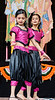 Young indian girl dancer in elaborate costume performing on stage<br /> Diwali celebration<br /> Aotea Square<br /> Auckland