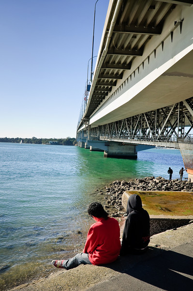 Under the Harbour Bridge<br /> Auckland