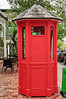 Red traditional telephone booth<br /> Parnell<br /> Auckland