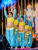Youn indian girk dancers performing on stage<br /> Diwali celebration<br /> Aotea Square<br /> Auckland