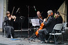A quartet ensemble giving a recital of classical music<br /> Parnell Rose Gardens<br /> Auckland