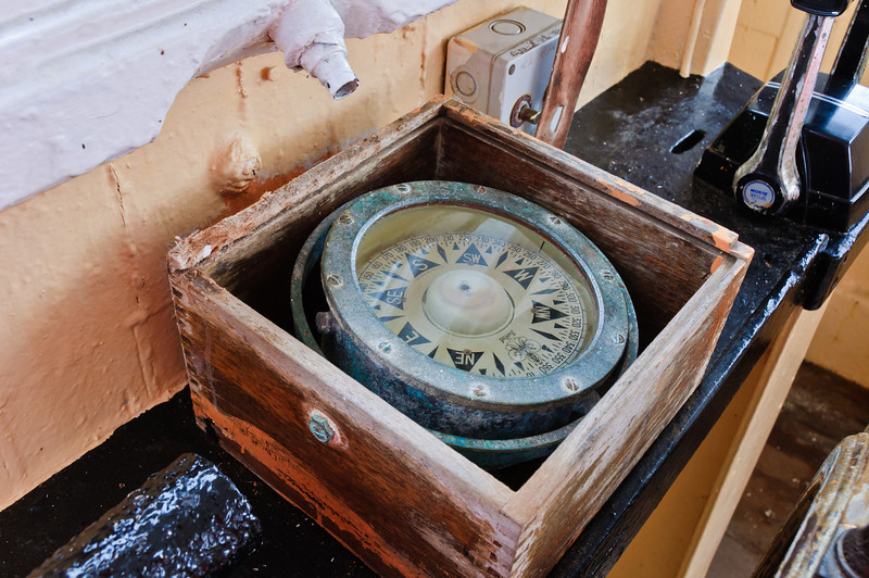 Naval magnetic compass<br /> Bluff<br /> South Island<br /> New Zealand