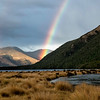 There's plenty  of rain on the South Island and plenty of rainbows