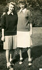 1945 Mom and Friend @ Madison State Teacher's College - Now James Madison U