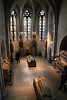 Gothic Chapel as Crypt. Carved images from Royal & Noble tombs from France & Spain.