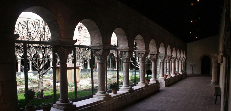 Inner Garden from 12th Century Cuxa Cloister.  From Pyrenees Benedictine Monastery of Saint-Michel-de-Cuxa