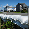 Salisbury: The Salisbury DPW has put in new sandbags on Berry Lane, between 11th and 12th Street, on the marsh side of Salisbury Beach in anticipation of the storm surge Hurrican Irene could deliver. Bryan Eaton/Staff Photo