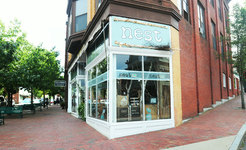 BRYAN EATON/ Staff Photo. Nest has moved in to the spot formerly housing Fuller's Clothing store in downtown Amesbury.