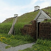 Viking village reconstruction, L'Anse aux Meadows, Newfoundland<br /> Site of 1st Viking landing in North America -- 1000 C.E.