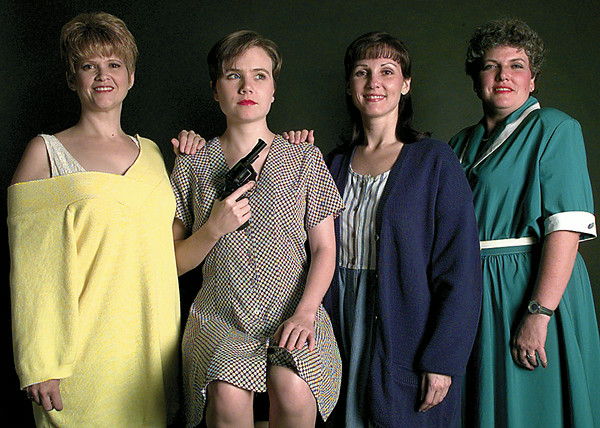 Crimes of the Heart cast members Ruth Stoddard, Carrie Boren, Sharon Cooley and Penne Shook. Chris Matula photo.