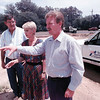 Paul Jaap, area engineer for the Longview TxDot office views the site of the new TxDot facility with Barbara Ward, Regional Mgr. of Vehicle Title and Registration Division and Longview TxDot Maint. Supervisor Billy Cooper.  Lester Phipps, Jr.