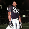 Rickey Dudlay of Henderson, and the Oakland Raiders in Texas Stadium 7-27-96. Chris Matula photo.