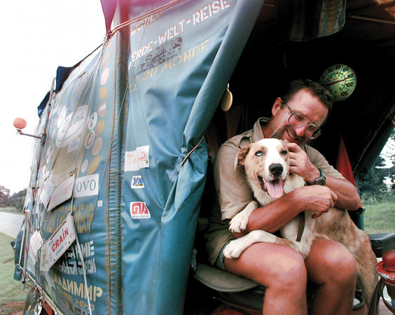 RUSSIAN TRAVELER AND HIS DOG